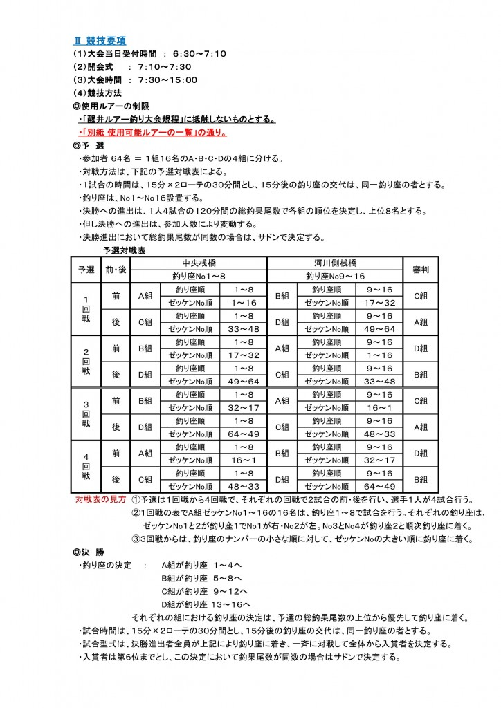 ☆競技要項(2)